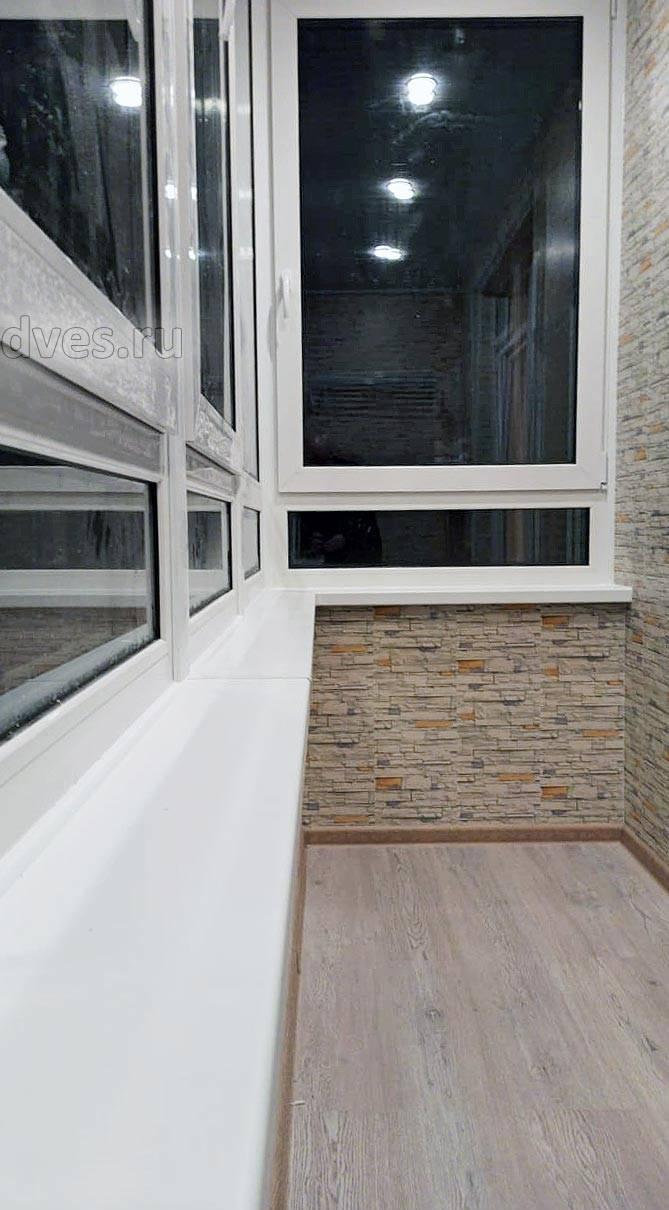 Отделка балкона и лоджии без утепления