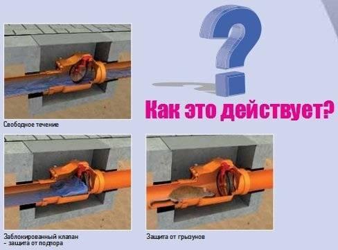 Обратный клапан на канализацию: виды, типы, установка