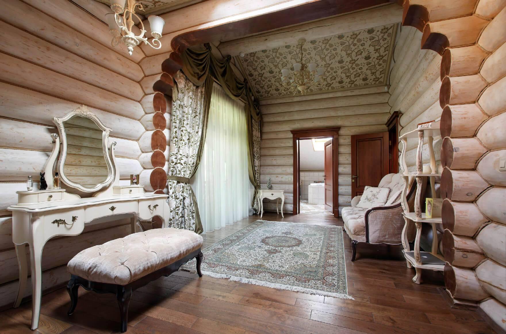 Интерьер деревянного дома - 21 фото современного дизайна.