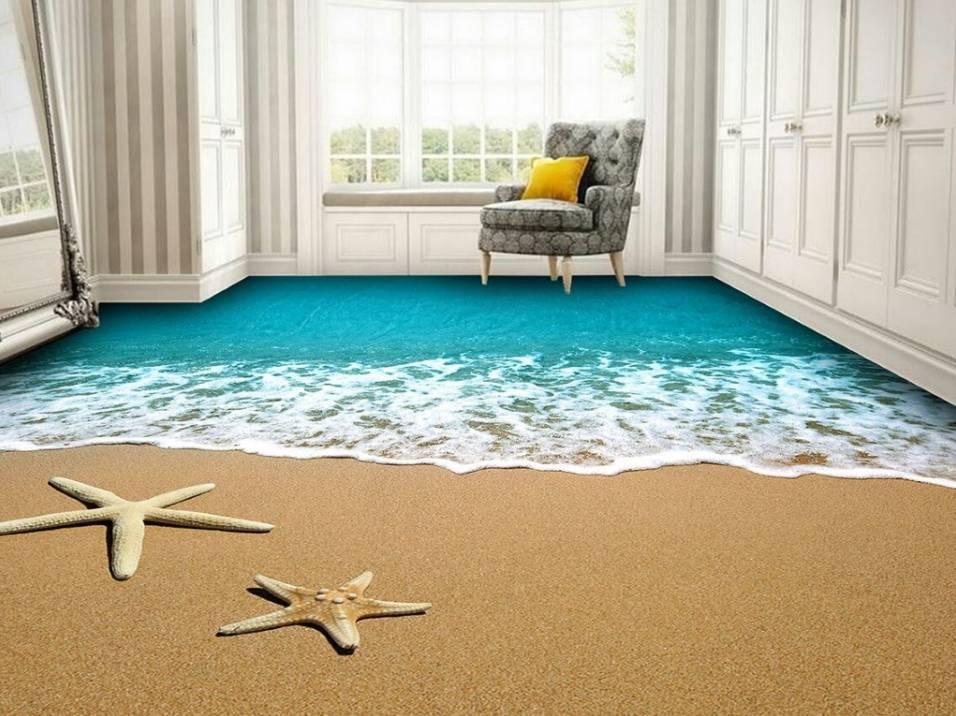 Наливные 3d-полы в интерьере (60 фото): красивые идеи дизайна кухни, гостиной, спальни, ванной и других комнат