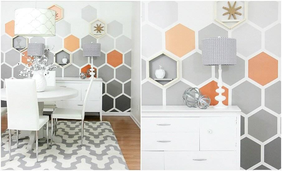 Обои «геометрия»: особенности дизайна комнат