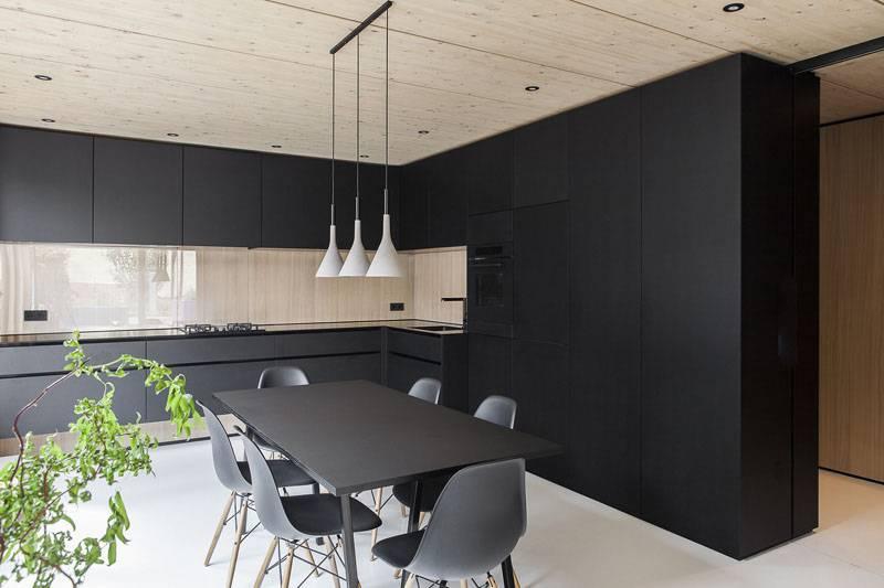 Черно-белый интерьер: 170+ (фото) дизайна спальни/кухни/гостиной