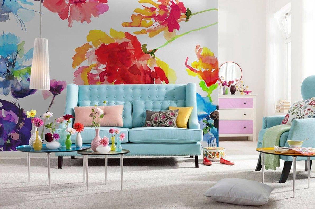 Цветочные обои в интерьере - основные правила с фото