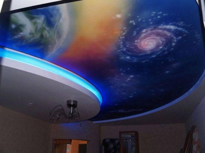 """Натяжной потолок """"звездное небо"""" - как их создают, варианты дизайна, фото"""