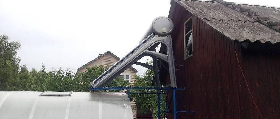 Солнечные нагреватели воды для отопления дома: работа водонагревателя