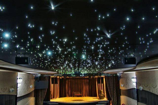 Натяжной потолок «звездное небо»: эффектная деталь в интерьере