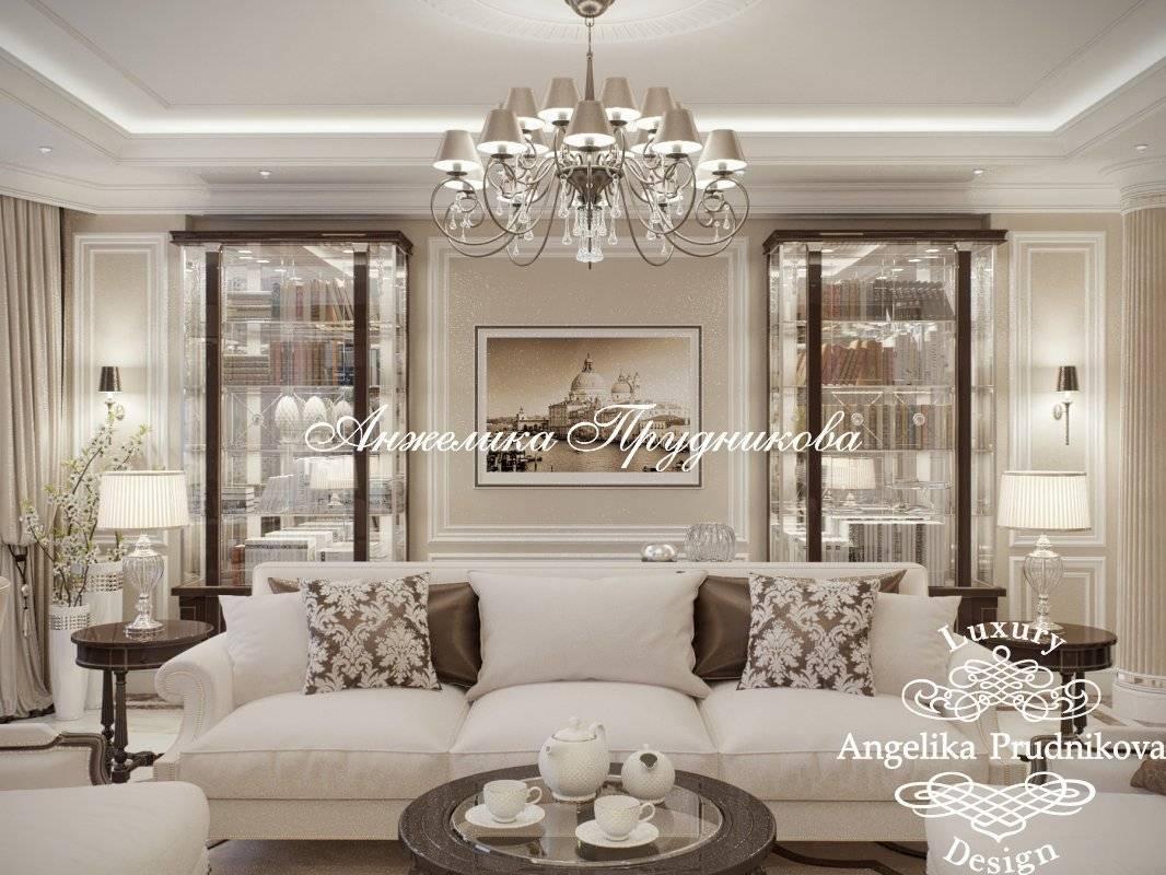Стилевые решения для гостиной с камином