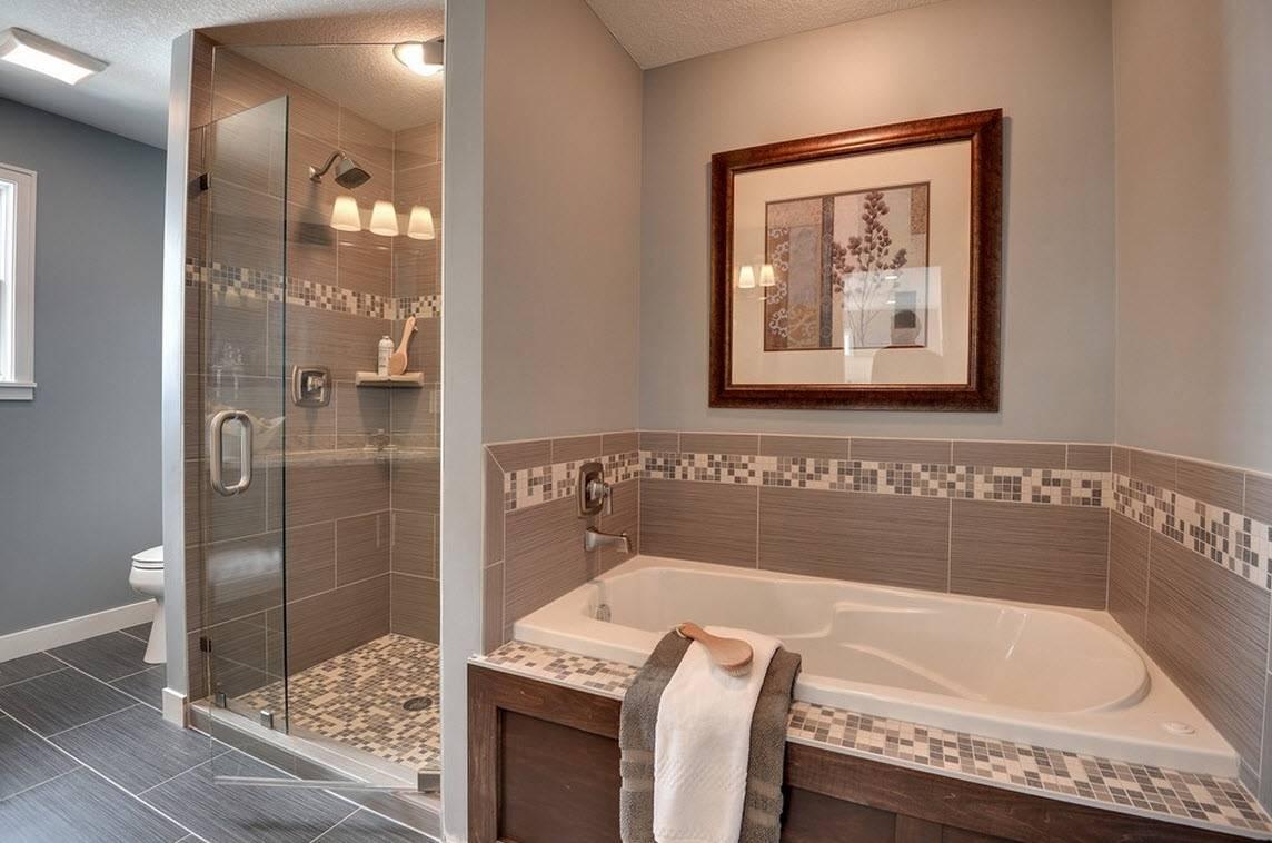 Плитка и мозаика для ванной комнаты: 26 фото, дизайн с элементами мозаики