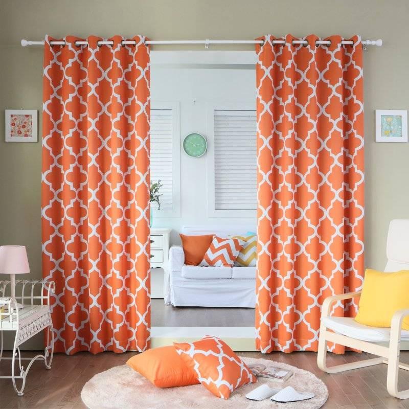Какие шторы выбрать для кухни в оранжевых тонах