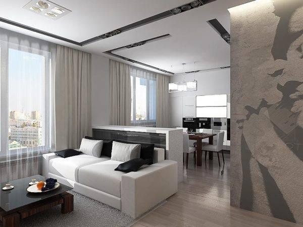 Современный дизайн гостиной - 100 фото стильных идей интерьера