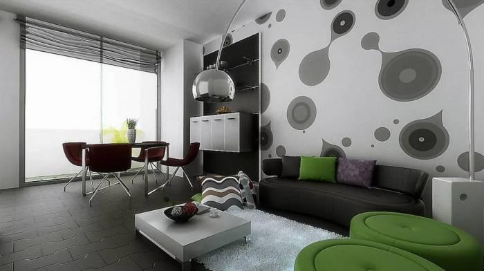 Современные обои в зал (70 фото): модные обои 2021 на стенах в интерьере гостиной. какие цвета сейчас в моде? как правильно клеить?