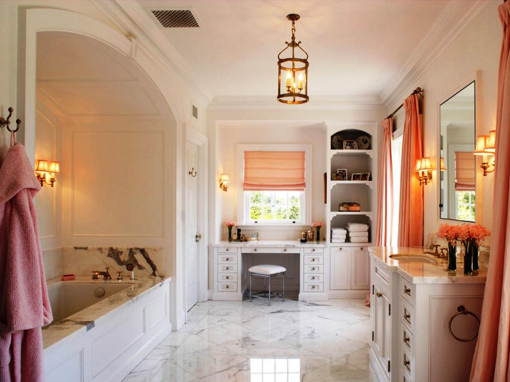 Нежность во всей красе: ванная в стиле прованс
