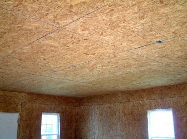 Потолок в гараже из осп - преимущества и порядок монтажа