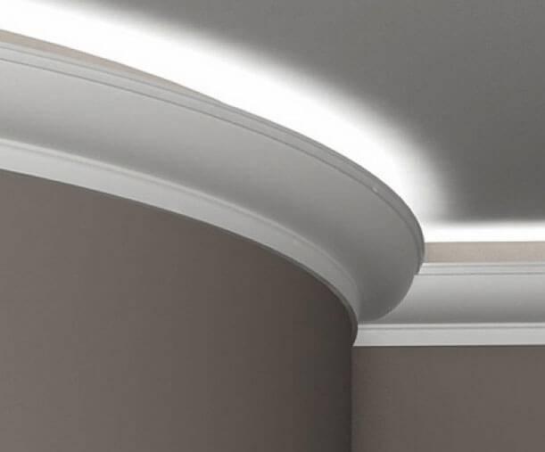Как выбрать потолочный плинтус для светодиодной ленты - методы крепления, подробное фото +видео