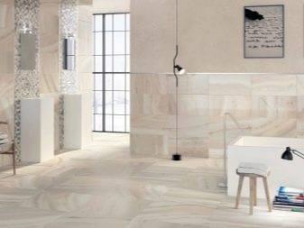 Напольная плитка под мрамор в дизайне интерьера