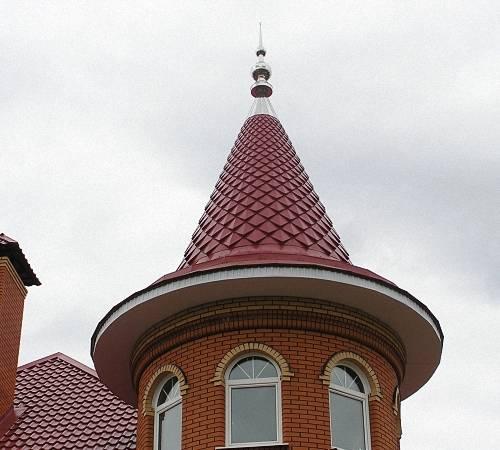 Разновидности круглой крыши, из каких элементов состоят и способы монтажа