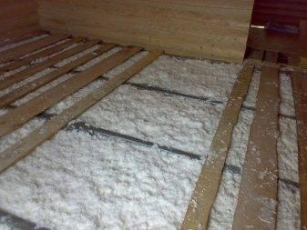 Материалы для утепления деревянного пола
