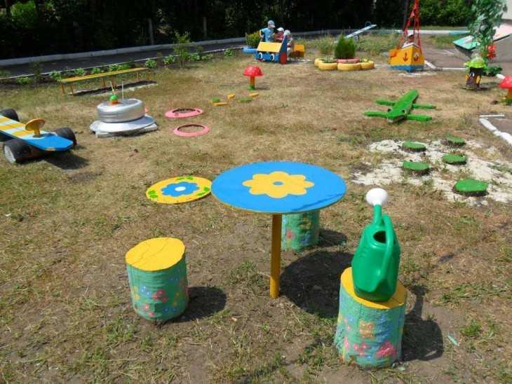 Детская площадка своими руками: чертежи + инструкция