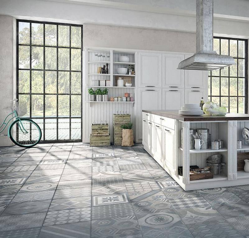 Плитка на пол для кухни (64 фото): варианты кафеля, дизайн напольных керамических, керамогранитных кухонных плиток и плитки из пвх. что лучше выбрать для интерьера?