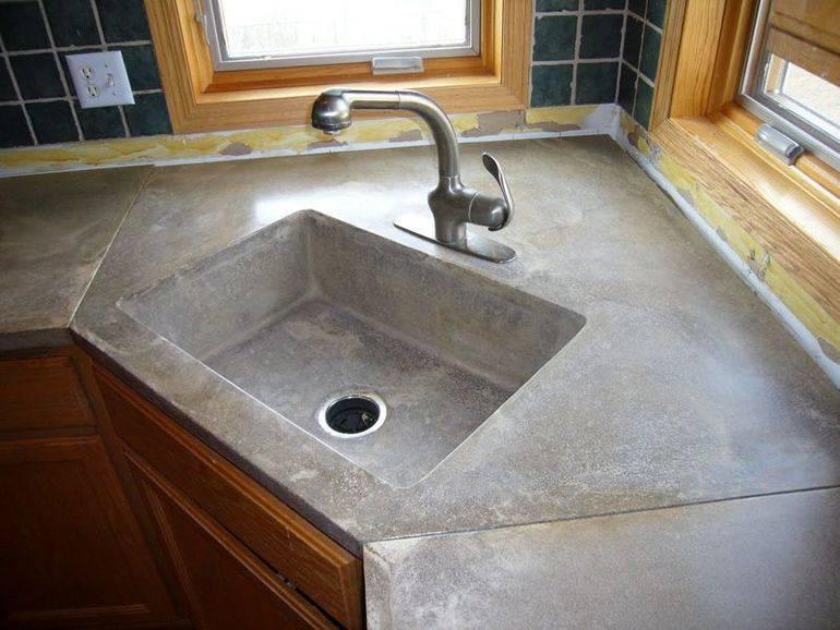 Бетонные столешницы для кухни своими руками. декоративный бетон