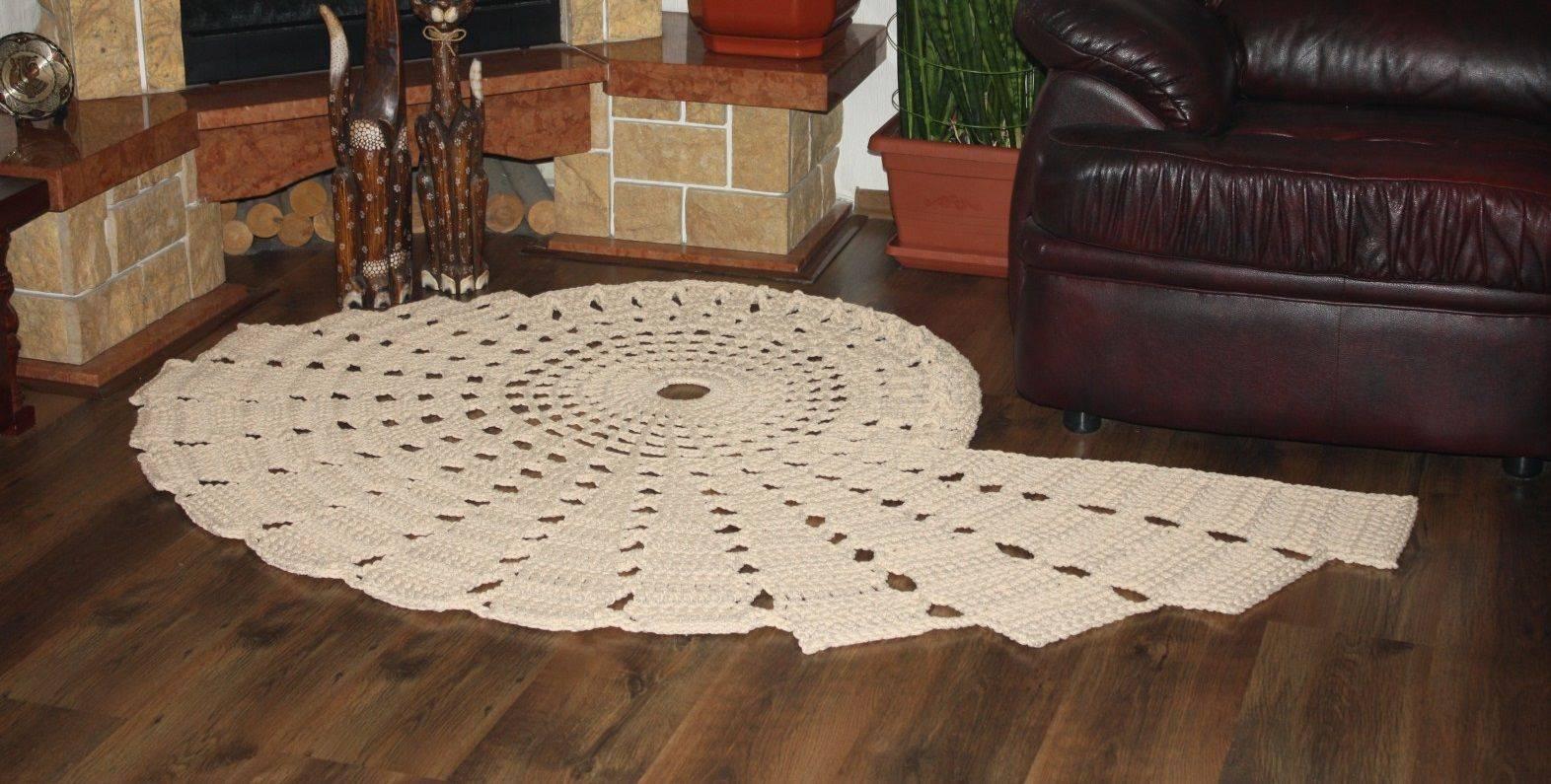 Из какой пряжи вяжут коврики крючком