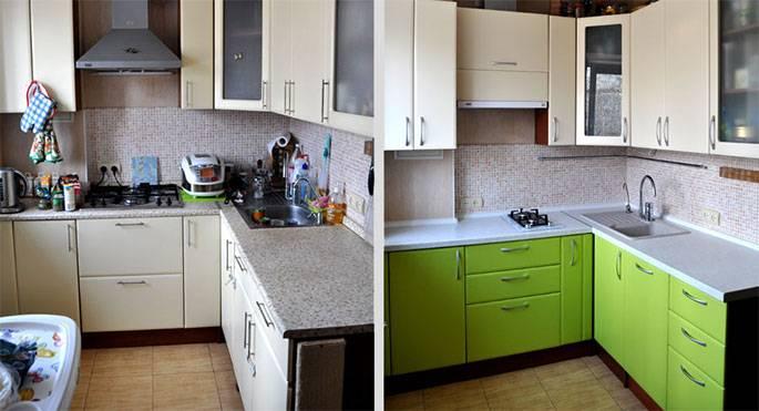 Покраска кухонных фасадов своими руками: видео, фото, инструкция