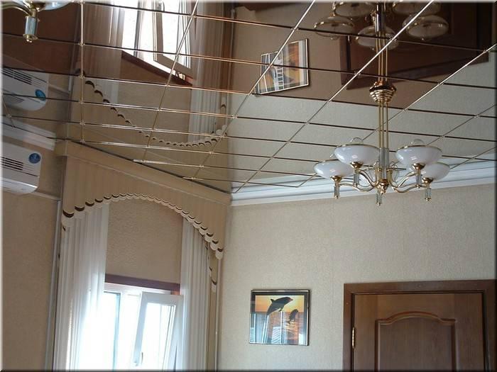 Зеркальный потолок: разновидности и их особенности