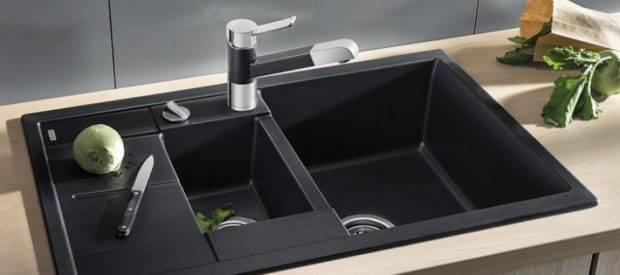 Каменная мойка для кухни - плюсы и минусы искусственного мрамора, кухонные раковины: гранитная, керамогранит или кварцевая, отзывы