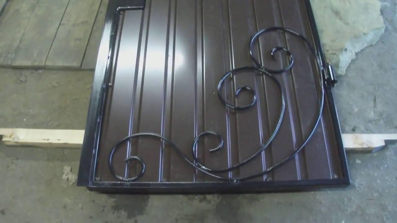 Ворота из профильной трубы своими руками: чертежи и эскизы