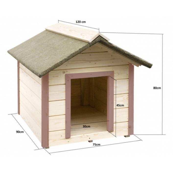Будка для собаки своими руками: чертежи, размеры | (55 фото)