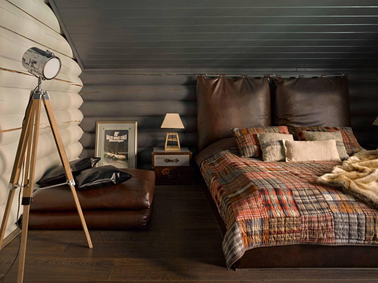 Деревянная спальня (53 фото): дизайн интерьера в деревенском стиле с элементами дерева