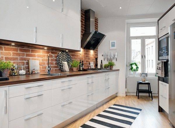 Керамическая плитка под кирпич для кухни: 60+ фото интерьера плитки под кирпич на кухне