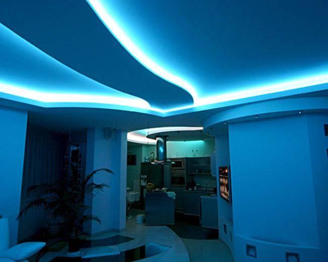 Монтаж светодиодной ленты для натяжного потолка своими руками - подробная инструкция, плюсы и минусы - блог о строительстве