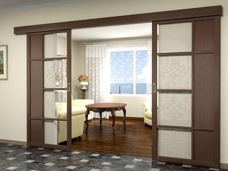 Двери межкомнатные распашные двустворчатые (двойные): размеры, виды
