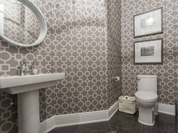 Обои для туалета в квартире: гармоничный дизайн и лучшие фото интерьеров