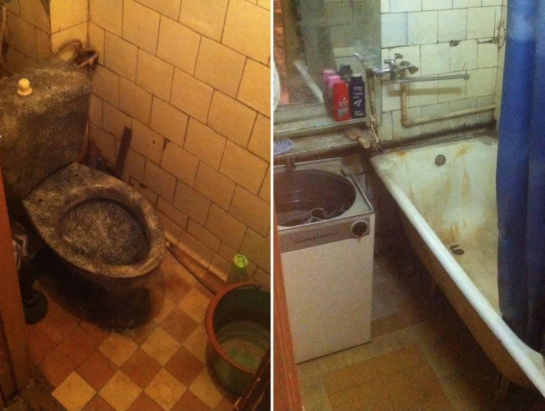 Парень решил обновить ванную комнату. фото до/после