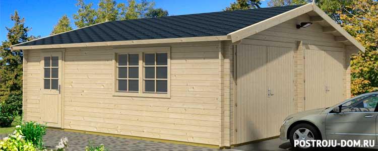 Гараж из бруса своими руками. как построить деревянный гараж?