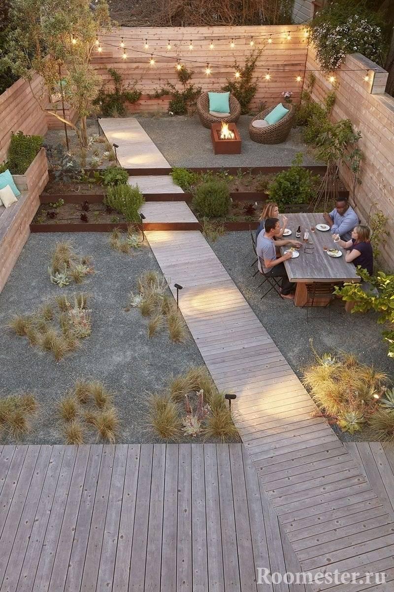 Обустройство двора — 130 фото и видео описание как спроектировать и оформить двор своими руками
