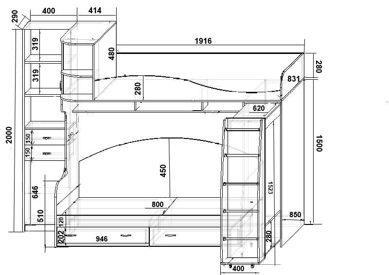 Размеры кроватей - что нужно знать о размерах двуспальных, односпальных и полуторных кроватей