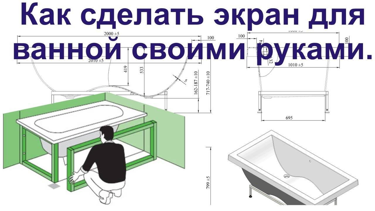 Экран под ванну - 130 фото лучших идей применения и особенности подбора экранов