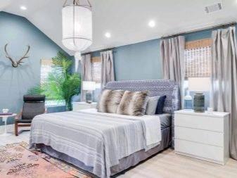 Оформление спальни в голубом цвете, советы и идеи дизайна