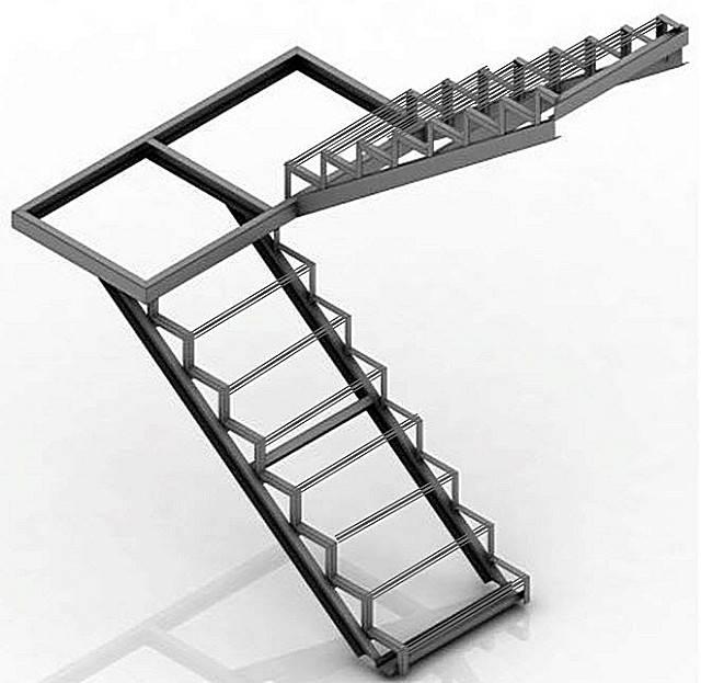 Лестница (стремянка) из профильной трубы своими руками