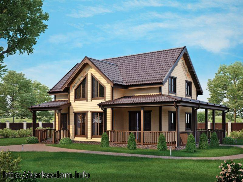 Затраты на постройку каркасного дома