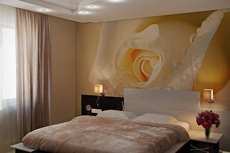 Дизайн интерьера спальни с фотообоями: 68 роскошных фото-идей и примеров оформления