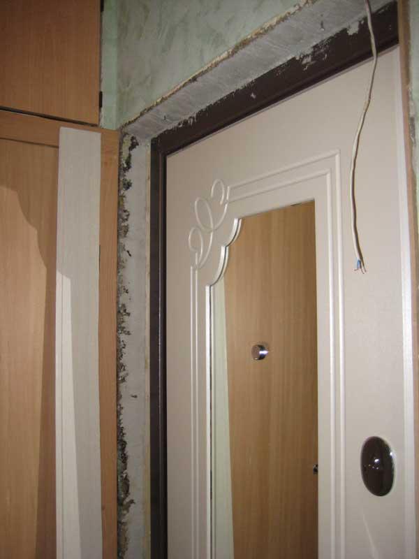 Дверные откосы из мдф панелей для входных дверей своими руками.