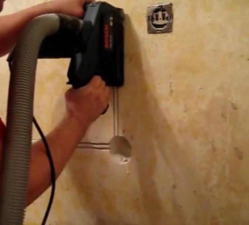 Перфоратор для штробления - как правильно сделать штробы в стене