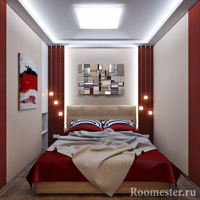 Как оформить дизайн спальни 10 кв.м. (95 фото)