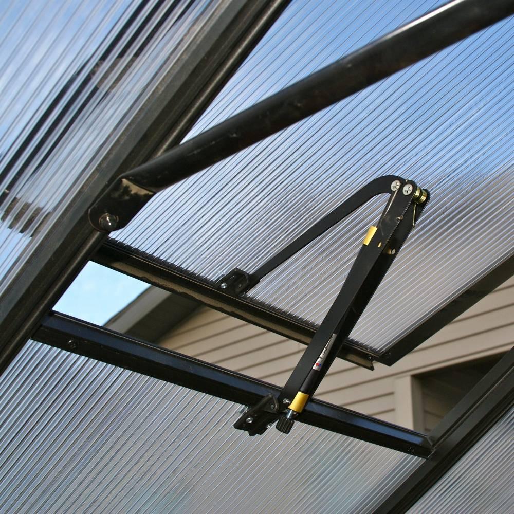 Форточка для теплицы: устройство проветривания, проветриватель своими руками, вентиляция для конструкций из поликарбоната