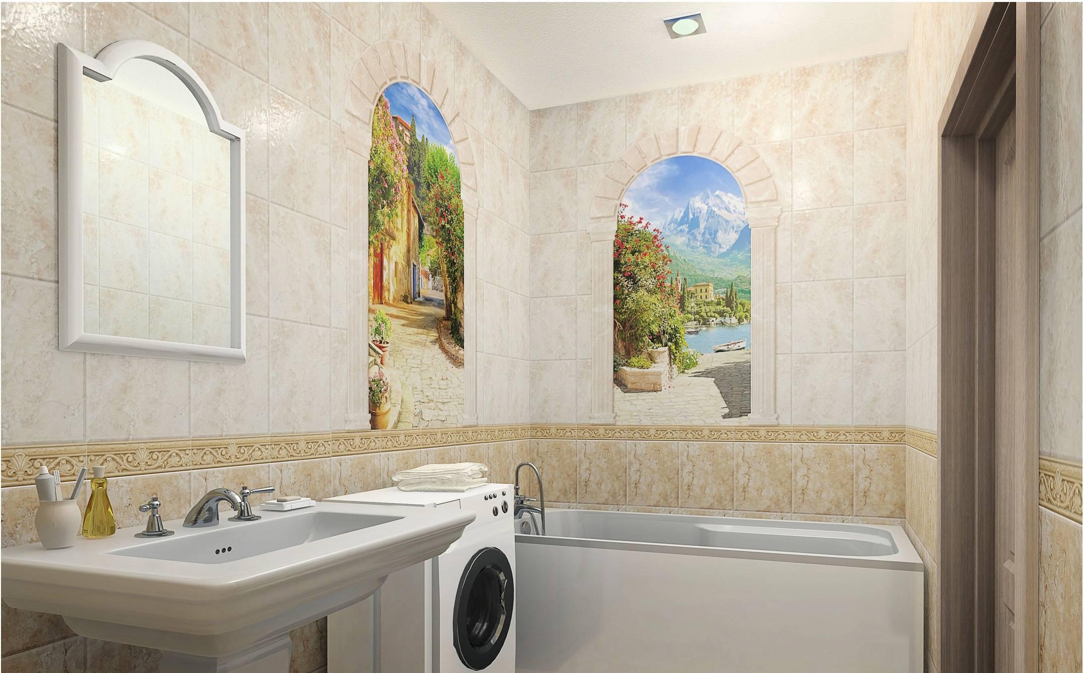 Каталог красивых панелей пвх для ванной: фото