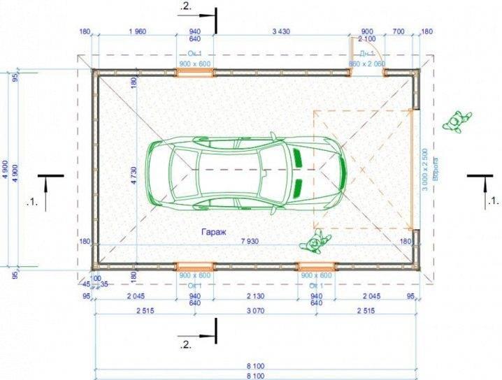 Оптимальный размер гаража на 1 машину в 2021 году
